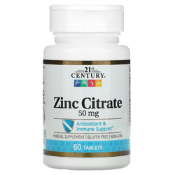 Цинк 21st Century Zinc 50мг 60 таблеток