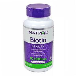 Витамины Биотин Natrol Biotin 100 таблеток 10мг